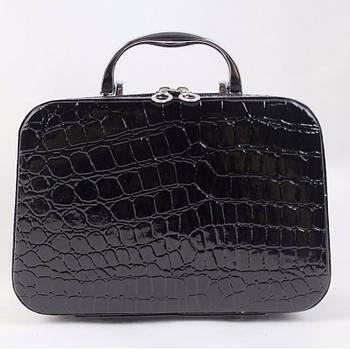 Скринька сумочка жіноча лакова (чорна)