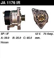 Генератор восст. /70A/ Nissan Micra 1,0-1,3