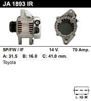 Генератор восст. /70A/ Toyota Yaris 1.4D 01-