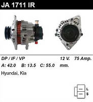 Генератор восст. /75A/ Hyundai H1, Kia Pregio 2,5D/TD