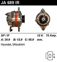 Генератор восст. /75A/ Hyundai Pony, Colt, Lancer 1,3-1,5 -95