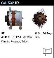 Генератор восст. /80A/ Peugeot 405, 305 Citroen BX 1,6i, 1,8-1,9D