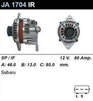 Генератор восст. /80A/ Subaru Legacy III 2,5, Impreza 1,6-2,0 16V
