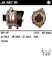 Генератор восст. /80A/ Toyota Avensis 97-00, Carina E 92-97, Corolla 1,6 97-00