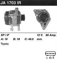 Генератор восст. /80A/ Toyota Corolla 02- 1.4-1.6