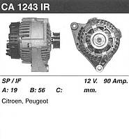 Генератор восст. /90A/ Citroen Berlingo, Saxo, Peugeot Partner 1.1-1.4