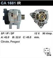 Генератор восст. /90A/ Citroen Berlingo, Peugeot 307  1,4 8V, 1,6 16V