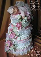 Торт из памперсов Подарок новорожденному