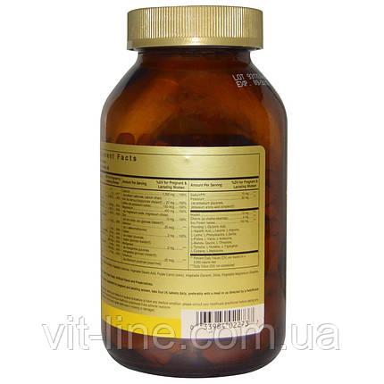 Solgar, Prenatal Nutrients, Multivitamin & Mineral Поливитамины и минералы для беременных 240 таблеток, фото 2