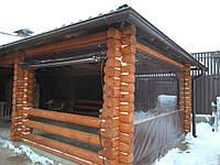 Прозрачные ПВХ шторы для деревянной беседки (с. Княжичи)