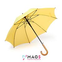 Зонт трость полуавтомат Желтый