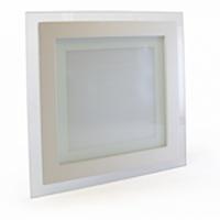 Светильник светодиодный Biom GL-S12 W 12Вт квадратный белый, фото 1