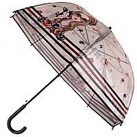 Силиконовый зонт-трость 20022/2  Girl with a dog