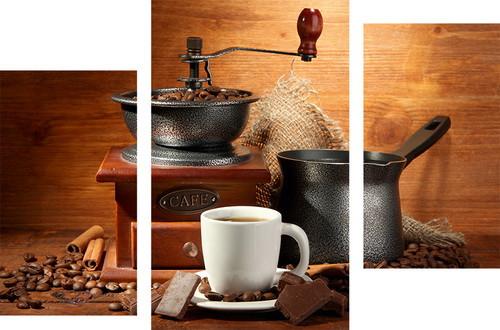 Картина модульная кофейная МD 055