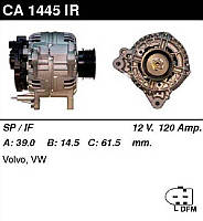 Генератор /120A/ VW LT 96- ,T4 2,5TDI