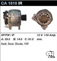 Генератор восст. /110A/ VW Golf5, Caddy3, Skoda Octavia 04-, Audi A3 1,9-2,0TDI