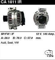 Генератор восст. /140A/ Audi A4, A6, Seat Altea,Toledo, Octavia, Skoda VW Passat, Tiguan 1,8-2,0 01-