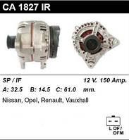 Генератор восст. /150А/ Opel Movano, Renault Master,Scenic,Vivaro, Nissan Interstar 1,9-2,5 dci