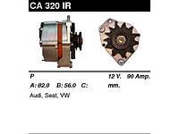 Генератор восст. /90A/ Audi 100,200,80, VW Golf I-II, JettAII, LT I 2,4D, Passat B3-B3, T3-T4, 1,6-1