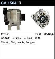 Генератор восст. /90A/ Citroen Berlingo, Fiat Scudo 1,9D (WJZ), 2,0HDI