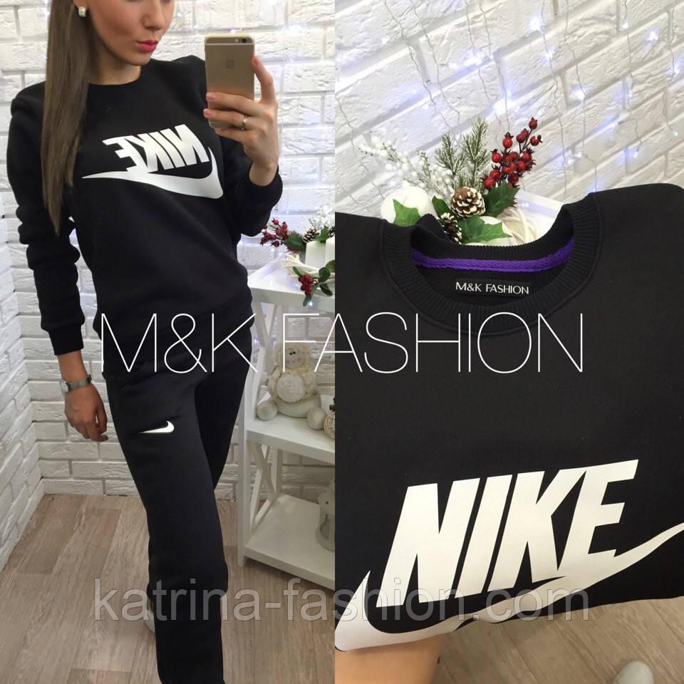 Женский теплый костюм на флисе: Nike (2 цвета)