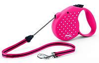 Flexi Dots Medium - Поводок-рулетка Flexi dots Флекси для собак весом до 20 кг