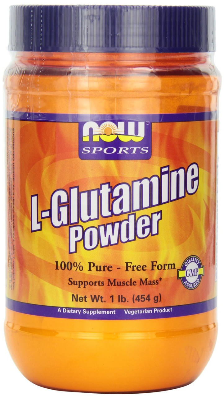 L-глютамин, Now Foods, Спорт, порошок, 0,5 кг