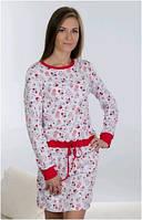 Сорочка, ночная рубашка детская подростковая для девочки хлопок Wiktoria W 129, 164