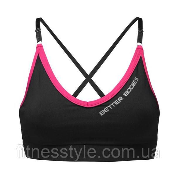 Спортивный топ Better Bodies Cherry Нill Short Top, Black/Pink