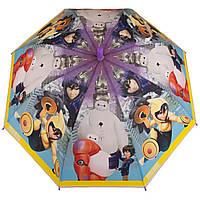 Детский силиконовый зонт-трость D 59/1 big hero violet