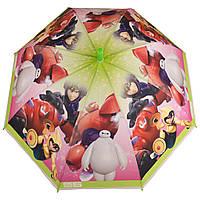 Детский силиконовый зонт-трость D 59/2 big hero green
