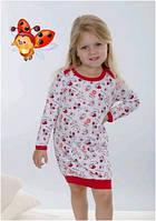 Сорочка, ночная рубашка детская подростковая для девочки хлопок Wiktoria W 164, 129
