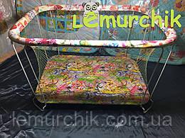 Манеж детский с крупной сеткой Kinderbox Джунгли
