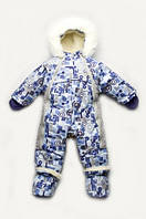 Детский зимний комбинезон-трансформер на меху для мальчика, фото 1