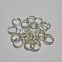 Соединительные  бижутерные кольца, двойные, 6,6 х 0,5 мм, 20шт., серебро