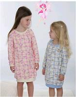 Сорочка, ночная рубашка детская теплая махровая для девочки Wiktoria W 163 пижама