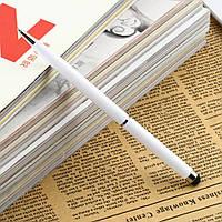 Универсальный стилус-шариковая ручка белый (ёмкостный)