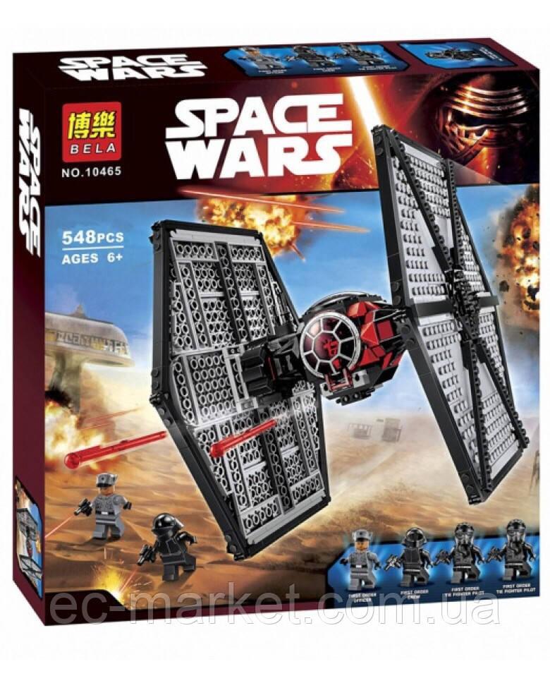 Конструктор Bela серия Space Wars 10465 Истребитель особых войск Первого Ордена (аналог Lego Star Wars 75101) - Euro City Market в Киеве