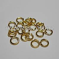 Соединительные кольца, одинарные, 6 х 1 мм, 20шт., золото