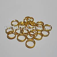 Соединительные кольца, двойные, 6,6 х 0,5 мм, 20шт., золото