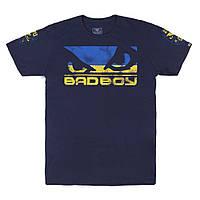 Спортивная мужская футболка Ukraine BAD BOY синий