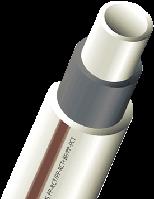 Труба PN 20 полипропиленовая Faiber BASALT (армированная) — Диаметр (d) 32 мм. Толщина стенки 4,4 мм — Wavin