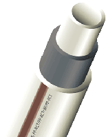 Труба PN 20 полипропиленовая Faiber BASALT (армированная) — Диаметр (d) 40 мм. Толщина стенки 5,5 мм — Wavin