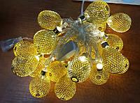 Электро-гирлянда 20L с насадкой «Золотая капля» на 20 светодиодов