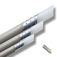 Труба Stabi OVI — Диаметр 32 мм. Полипропиленовая с алюминиевой прослойкой — Ecoplastik
