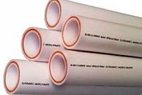 Труба PP-r Steklo — Диаметр 50 мм — полипропиленовая для отопления и воды (армированная стекловолокном), EkoPlastiks
