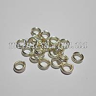 Соединительные кольца, двойные, 4 х 0,7 мм, 20шт., серебро