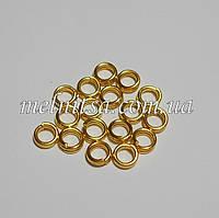 Соединительные кольца, двойные, 4 х 0,7 мм, 20шт., золото