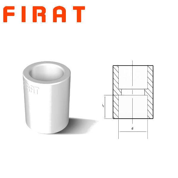 Муфта для труб соединительная — 40 Ø,мм, Firat Plastik