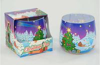 Ароматизированная  свеча в стекле Christmas Time